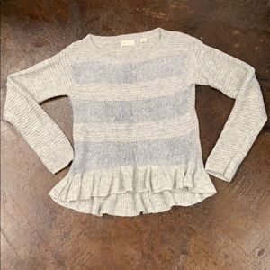 Anthropology-sleeping on snow grey sweater